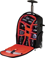 Vivitar Series 1 Trolley DSLR Camera Backpack Case with Wheels ...