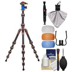 3 Legged Thing Equinox Leo Carbon Fiber Tripod with AirHed Switch with Flash Diffusers + Cleaning Kit