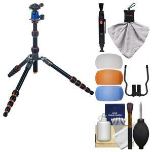 3 Legged Thing Punks Corey Magnesium Alloy Travel Tripod with AirHed Neo with Flash Diffusers + Cleaning Kit
