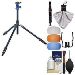 3 Legged Thing Punks Travis Magnesium Alloy Travel Tripod with AirHed Neo with Flash Diffusers + Cleaning Kit