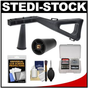 Stedi-Stock Shoulder Brace Stabilizer for Cameras Camcorders and Scopes with QR - Black - with Cleaning Accessory Kit