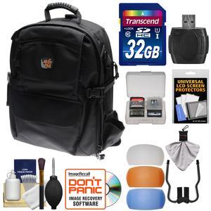 Image of Aktiv Pak AP400 Digital SLR Camera Backpack Case (Black) 32GB Card & Reader + Flash Diffusers + Accessory Kit