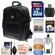 Aktiv Pak AP400 Digital SLR Camera Backpack Case (Black) 32GB Card & Reader + Flash Diffusers + Accessory Kit