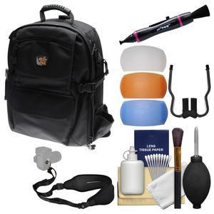 Aktiv Pak AP400 Digital SLR Camera Backpack Case (Black) with Sling Strap + Flash Diffusers + Cleaning Kit