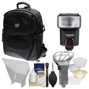Aktiv Pak AP400 Digital SLR Camera Backpack Case (Black) with Flash + Diffuser + Reflector + Kit