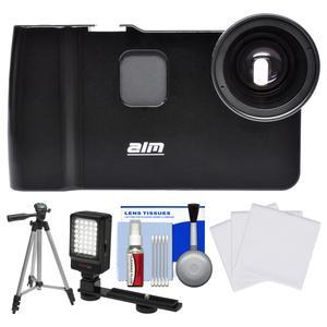 ALM mCAMLITE Stabilizer Mount with Video Lens for iPhone 7 with Video Light and Tripod and Cleaning Kit