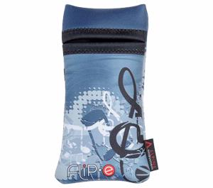 Alpine Flip-E Camera Case with Microfiber Cloth-Blue Music -
