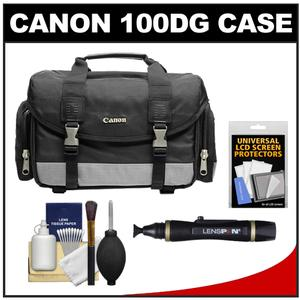 Canon 100DG Digital SLR Camera Case-Gadget Bag With Cleaning Kit and LCD Protectors