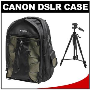 Canon 200EG Deluxe Digital SLR Camera Backpack Case with 58 inch Photo/Video Tripod Kit