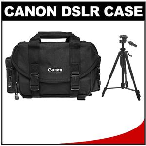 Canon 2400 Digital SLR Camera Case-Gadget Bag with 58 inch Photo-Video Tripod