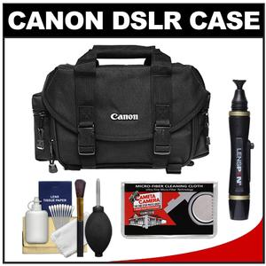 Canon 2400 Digital SLR Camera Case-Gadget Bag with Cleaning Kit and LCD Protectors