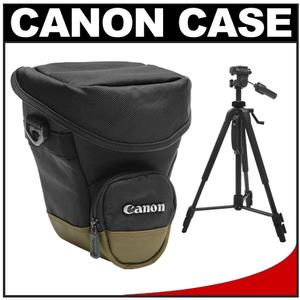 Canon Zoom Pack 1000 Digital SLR Camera Holster Case with 58 inch Photo-Video Tripod