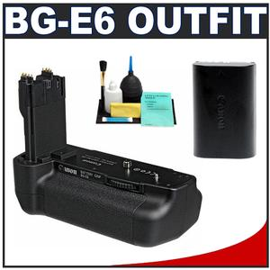 Canon BG-E6 Battery Grip for EOS 5D Mark II Digital SLR Camera with Canon Battery + Cleaning Kit
