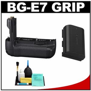 Canon BG-E7 Battery Grip for EOS 7D Digital SLR Camera with Canon LP-E6 Battery + Cleaning Kit