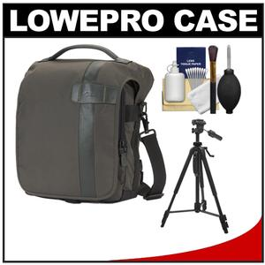 Lowepro Classified 140 AW Digital SLR Camera Bag/Case (Sepia) with Deluxe Photo/Video Tripod + Accessory Kit