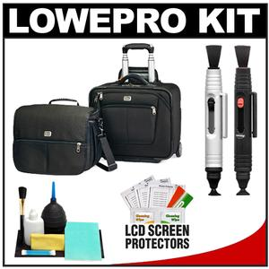 Lowepro Pro Roller Attache x50 Digital SLR Camera Bag/Case with Wheels (Black) with Accessory Kit