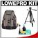Lowepro Pro Trekker 400 AW Digital SLR Camera Backpack Case (Black/Mica) with Deluxe Photo/Video Tripod + Accessory Kit