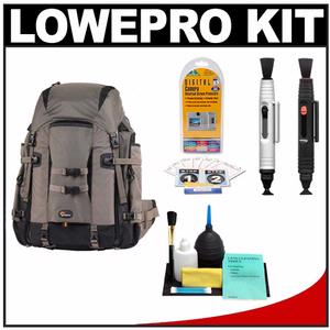 Lowepro Pro Trekker 400 AW Digital SLR Camera Backpack Case (Black/Mica) with LensPen Cleaning System + Accessory Kit