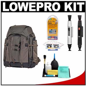 Lowepro Pro Trekker 600 AW Digital SLR Camera Backpack Case (Black/Mica) with LensPen Cleaning System + Accessory Kit