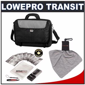 "Lowepro Transit Briefcase L 15.4"" Notebook/Laptop Computer Case (Black) with Lenspen LapTop Pro Ultra Cleaning Kit"
