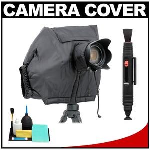 Matin All-Weather DSLR Camera Protection Cover (Black) with Cleaning Accessory Kit