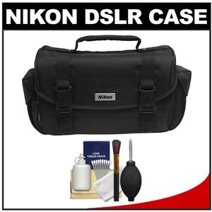 Nikon 5873 Compact Digital SLR Camera Case - Gadget Bag (with Side Pockets) with 6 Piece Cleaning Kit