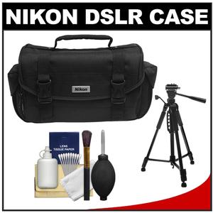 "Nikon 5873 Compact Digital SLR Camera Case - Gadget Bag (with Side Pockets) with 58"" Photo/Video Tripod"