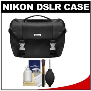 Nikon Deluxe Digital SLR Camera Case - Gadget Bag with 6 Piece Cleaning Kit