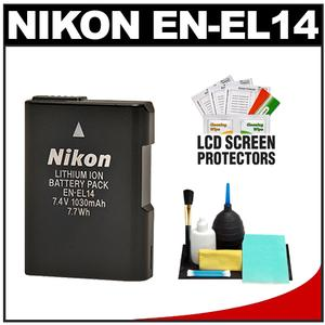 Nikon EN-EL14 Battery & Cleaning Kit for Coolpix P7000 & D3100 Digital SLR Camera