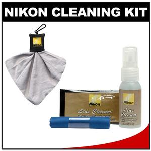 Nikon Digital Camera and Lens Cleaning Kit with Nikon Clothes Fluid + Lens Cloth Spudz