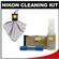 Nikon Digital Camera and Lens Cleaning Kit with Nikon Clothes, Fluid + Lens Cloth Spudz