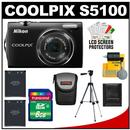 Nikon Coolpix S5100 Digital Camera (Black)