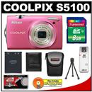 Nikon Coolpix S5100 Digital Camera (Pink)