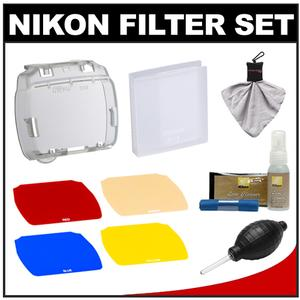 Nikon SJ-4 Speedlight Color Filter Set for SB-700 Flash with Cleaning Kit