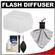 Precision Design PD-FD600 Bounce Flash Diffuser for Nikon SB-600 & Olympus FL-36/FL-36R with Cleaning Kit