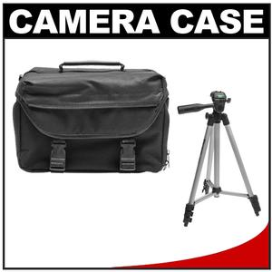 "Precision Design 1000 Deluxe Digital SLR System Camera Case with 50"" Deluxe Camera Tripod"