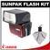 Sunpak PF30X / DigiFlash 2800 Electronic Flash Unit (for Canon EOS E-TTL II) with Precision Design Spudz Microfiber Cleaning Cloth