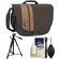 Tamrac 3445 Rally 5 Camera/Netbook/iPad Bag (Brown/Tan) with Deluxe Photo/Video Tripod + Accessory Kit
