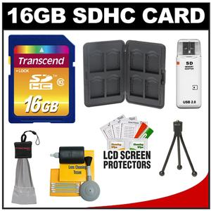 Transcend 16GB HC SecureDigital Class 10 (SDHC) Ultimate Ultra-High-Speed Card with Memory Card Case + Accessory Kit