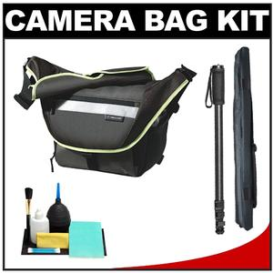 Vanguard Sydney 27 Messenger Digital SLR Camera Bag/Case (Olive) with Monopod + Accessory Kit