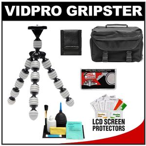 Vidpro GP-22 Gripster II Flexible Digital SLR Camera Tripod with Case + Accessory Kit