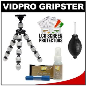 Vidpro GP-22 Gripster II Flexible Digital SLR Camera Tripod with Nikon Camera & Lens Cleaning Accessory Kit