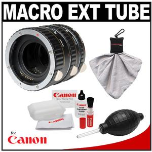 Vivitar Macro Extension Tube Set (for Canon EOS Cameras) with Canon Cleaning Kit