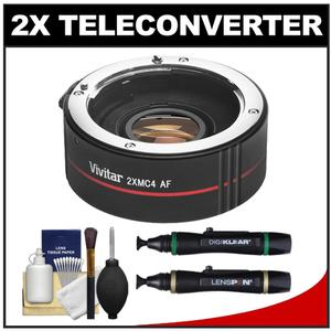 Vivitar Series 1 2x 4 Elements Teleconverter-for Canon EOS Cameras-with Lenspens and 6-Piece Cleaning Kit