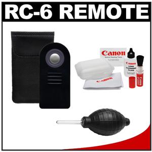 Zeikos RC-6 Wireless Shutter Release Remote Control for Canon Digital SLR Cameras with Cleaning Kit for Rebel XSi  T1i  T2i  T3i  T4i & EOS M  60D  7D  5D Mark