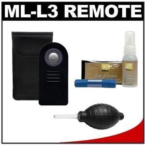 ML-L3 Wireless Shutter Release Remote Control + Cleaning Kit for Nikon Coolpix P7000, D7000, D5100, D5000, D3000, D90, D60 & D40 Digital SLR Cameras