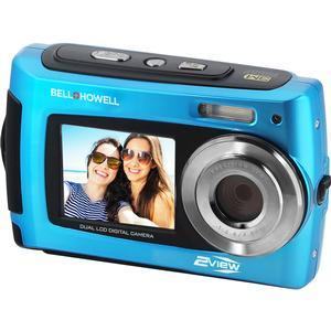 Bell and Howell 2VIEW18 HD Dual Screen Waterproof Digital Camera-Blue -