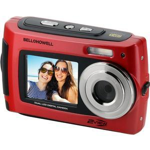 Bell and Howell 2VIEW18 HD Dual Screen Waterproof Digital Camera-Red -