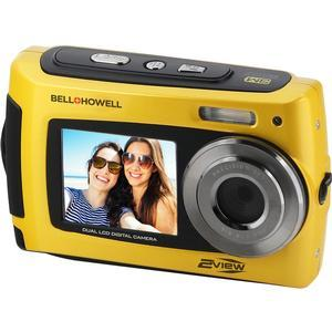 Bell and Howell 2VIEW18 HD Dual Screen Waterproof Digital Camera-Yellow -