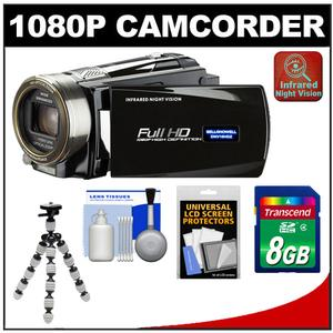 Bell & Howell DNV16HDZ 1080p HD Video Camera Camcorder + Infrared Night Vision (Black) + 8GB Card + Flex Tripod + Accessory Kit at Sears.com